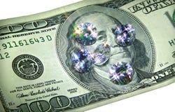 Dinero y joyas. Foto de archivo libre de regalías