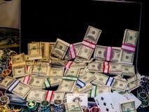 Dinero y juego Fotografía de archivo libre de regalías