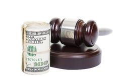 Dinero y la ley Fotos de archivo libres de regalías