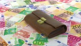 Dinero y monedero almacen de video