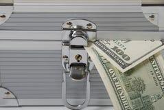Dinero y rectángulo Foto de archivo libre de regalías