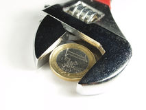 Dinero y reparación Imagen de archivo libre de regalías