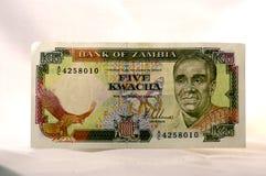 Dinero zambiano Fotografía de archivo