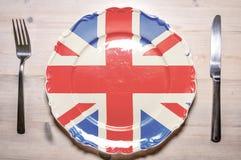 Dinerplaat het Verenigd Koninkrijk Stock Afbeeldingen