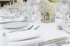 Dinerplaten en grassen Royalty-vrije Stock Foto's