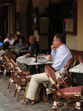 Diners enjoy a lunch Royalty Free Stock Image