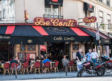 Diners at Le Cafe Conti, paris, France Royalty Free Stock Photos