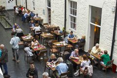Diners in the restaurant in the Chester Beatty Musuem in Dublin stock image