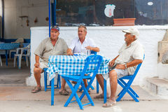 Diners at a traditional Greek restaurant Royalty Free Stock Image