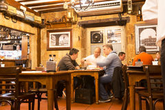 Diners in a typical Salamanca restaurant Stock Photography