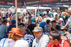 The diners viewers Festival Rozhen 2015 in Bulgaria Royalty Free Stock Photos