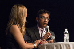 Dinesh D'Souza. American political commentator, filmmaker, and author, gave a rousing speech at United We Stand featuring Sarah Palin Stock Image