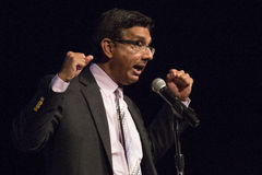Dinesh D'Souza. American political commentator, filmmaker, and author, gave a rousing speech at United We Stand featuring Sarah Palin Royalty Free Stock Photo