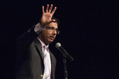 Dinesh D'Souza. American political commentator, filmmaker, and author, gave a rousing speech at United We Stand featuring Sarah Palin Stock Photos
