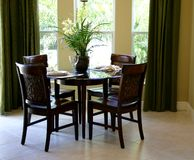 Dinette with garden view stock photography