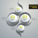 抽象3d圆筒infographics 图库摄影