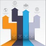 3d最小的infographics 向量 图库摄影