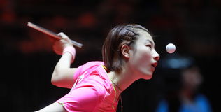 Ding Ning on Serve Stock Images