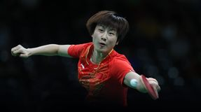 Ding Ning table tennis champion at the Olympic Games in Rio 2016. Ding Ning from China table tennis champion at the Olympic Games in Rio 2016 Stock Image