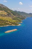 Dingac vineyards on Peljesac peninsula Stock Photos