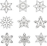 Dingbats in shape of star Stock Image
