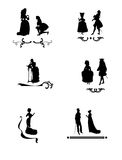 Dingbats with silhouette of people Royalty Free Stock Photography