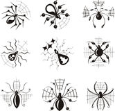 Dingbats with spiders Royalty Free Stock Image
