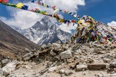Dingboche à Lobuche, Népal photographie stock libre de droits