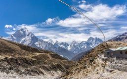 Dingboche aan Lobuche, Nepal royalty-vrije stock fotografie