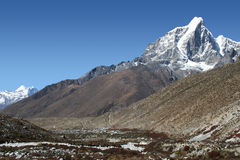 Dingboche and Taboche Peak Stock Photos
