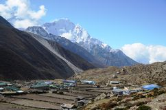 Dingboche - Village in the Himalaya Stock Photography