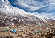 Dingboche village in Sagarmatha national park, Nepal Stock Images