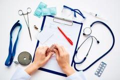 Dingen van werker uit de gezondheidszorg Royalty-vrije Stock Foto