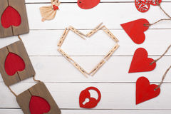 Dingen voor gelukkige St Valentine Dag Stock Afbeeldingen