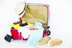 Dingen voor het reizen Royalty-vrije Stock Foto's