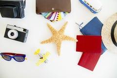 Dingen voor het reizen Stock Fotografie