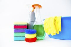 Dingen voor het schoonmaken Stock Foto