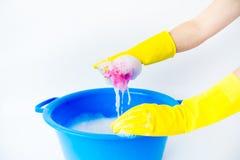 Dingen voor het schoonmaken Royalty-vrije Stock Foto