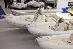 Dinghies At Big Blue Rome Sea Expo 2011 Royalty Free Stock Image