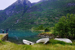 Dinghies on the grass Royalty Free Stock Photography