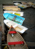 Dinghies, in the Mud Stock Photo