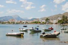 Dinghies przy Puerto Pollensa, Majorca zdjęcia royalty free