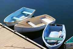 Dinghies at Rockport Harbor Royalty Free Stock Image