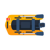 Dinghy boat vector illustration. Stock Images