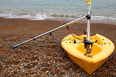 Dinghy in Dover. Dinghy on the beach in Dover, Kent, UK Stock Photos