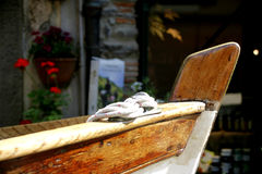 Dinghy in Italy Stock Photography