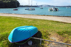 Dinghy at Little Shoal Bay Reserve Beach Auckland New Zealand Royalty Free Stock Image