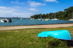 Dinghy at Little Shoal Bay Reserve Beach Auckland New Zealand Royalty Free Stock Photography