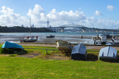 Dinghy at Little Shoal Bay Reserve Beach Auckland New Zealand Royalty Free Stock Images