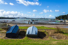 Dinghy at Little Shoal Bay Reserve Beach Auckland New Zealand. Dinghys at Little Shoal Bay Reserve Beach Auckland New Zealand Stock Photo